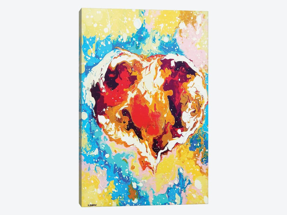 Forever Heart by Helen Janow Miqueo 1-piece Canvas Print