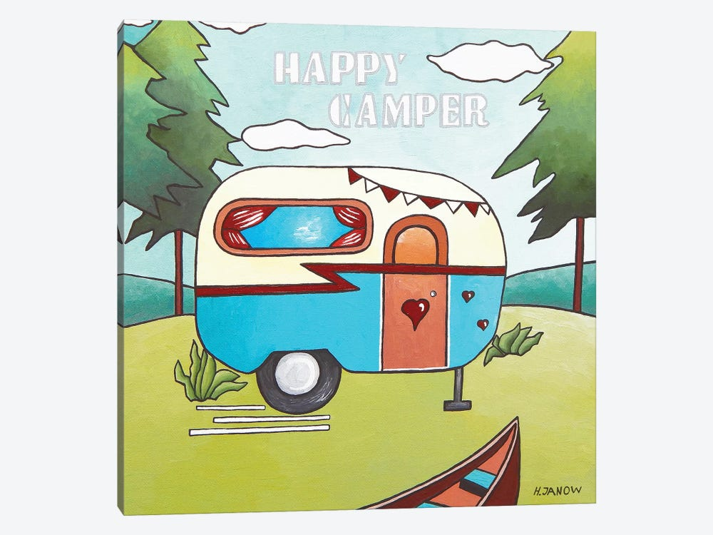 Happy Camper by Helen Janow Miqueo 1-piece Canvas Artwork