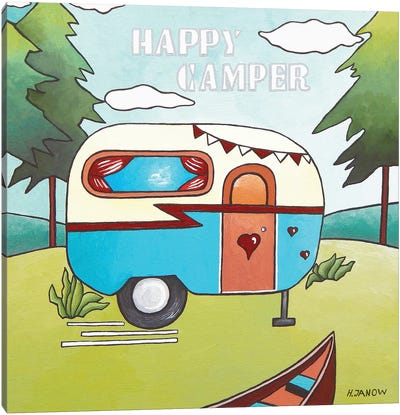 Happy Camper Canvas Art Print