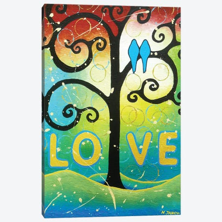 Love Canvas Print #HJM24} by Helen Janow Miqueo Canvas Art