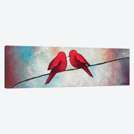 Love At First Sight Canvas Print #HJM25} by Helen Janow Miqueo Canvas Wall Art