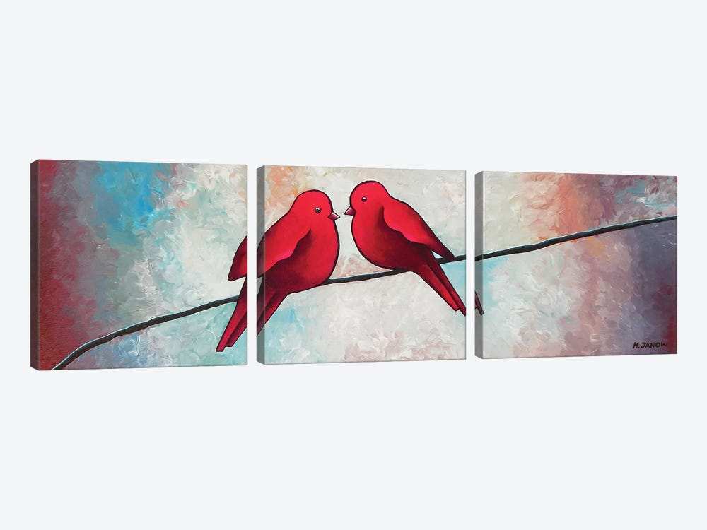 Love At First Sight by Helen Janow Miqueo 3-piece Canvas Print