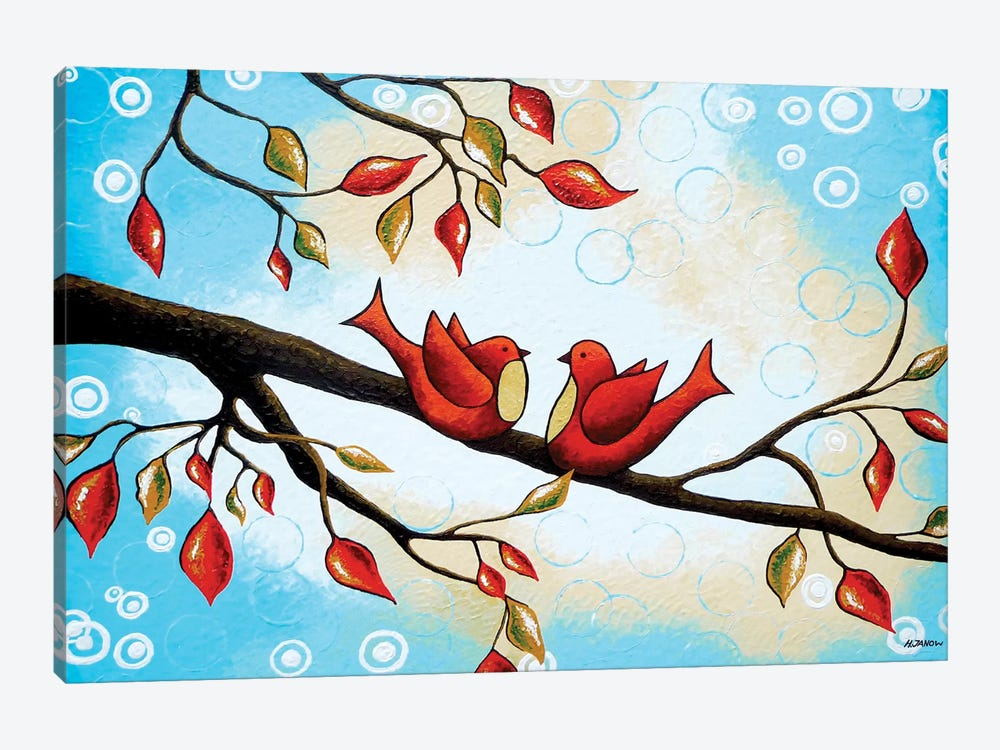 Love Birds Canvas Wall Art by Helen Janow Miqueo | iCanvas