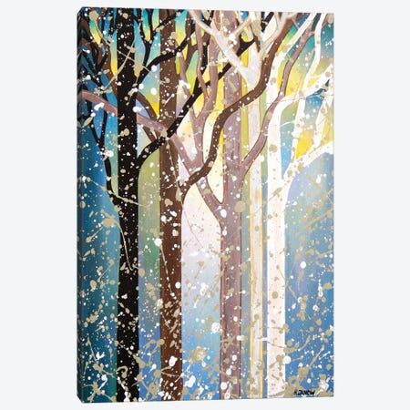 Serenity Forest 3-Piece Canvas #HJM38} by Helen Janow Miqueo Canvas Art