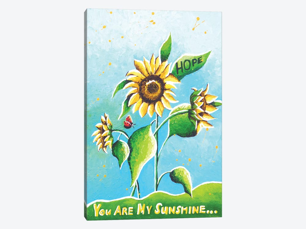 Sun Flowers by Helen Janow Miqueo 1-piece Canvas Wall Art