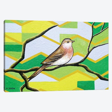 Twitter I Canvas Print #HJM46} by Helen Janow Miqueo Canvas Art