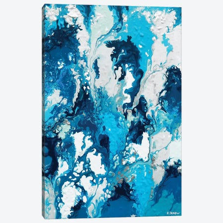 Blue Rain Canvas Print #HJM4} by Helen Janow Miqueo Canvas Wall Art