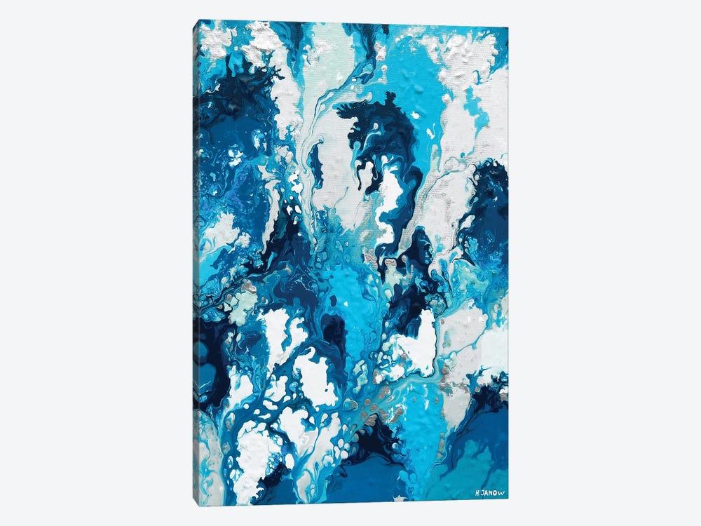 Blue Rain by Helen Janow Miqueo 1-piece Canvas Art Print