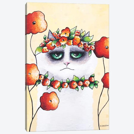 Julian In The Garden Canvas Print #HJM50} by Helen Janow Miqueo Canvas Wall Art