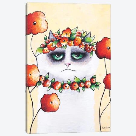 Julian In The Garden Canvas Print #HJM50} by Helen Janow Miqueo Canvas Wall Art