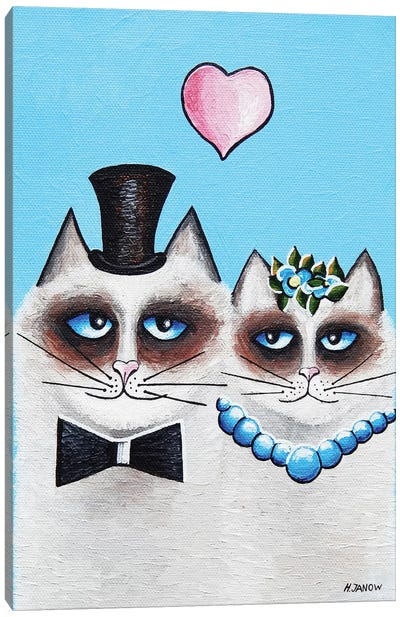 Mr. & Mrs. Meow Canvas Art Print