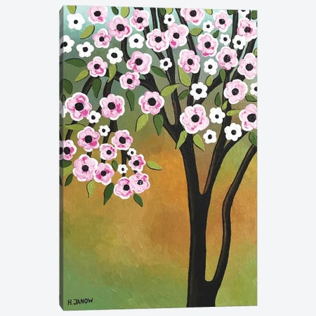 Spring Flowers Canvas Print #HJM54} by Helen Janow Miqueo Canvas Print