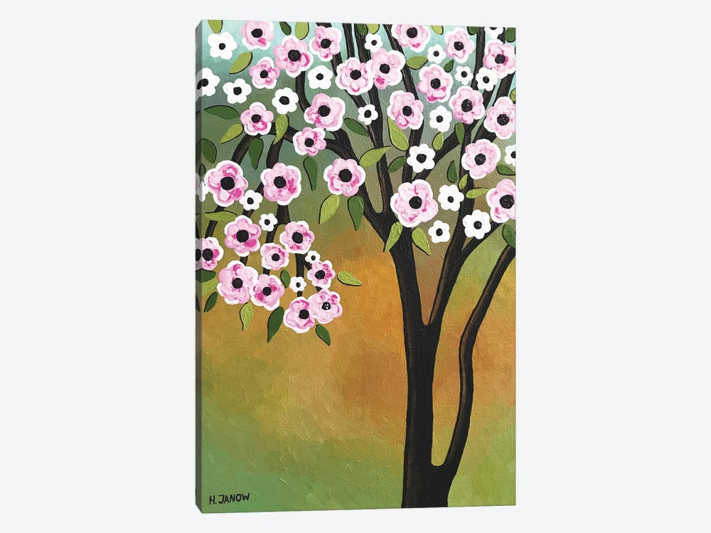 Spring Flowers by Helen Janow Miqueo 1-piece Canvas Print