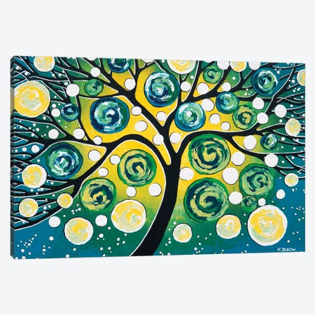 Starry Night Canvas Print #HJM55} by Helen Janow Miqueo Canvas Print