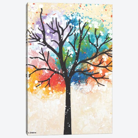 Tree Of Dreams II 3-Piece Canvas #HJM57} by Helen Janow Miqueo Canvas Art Print