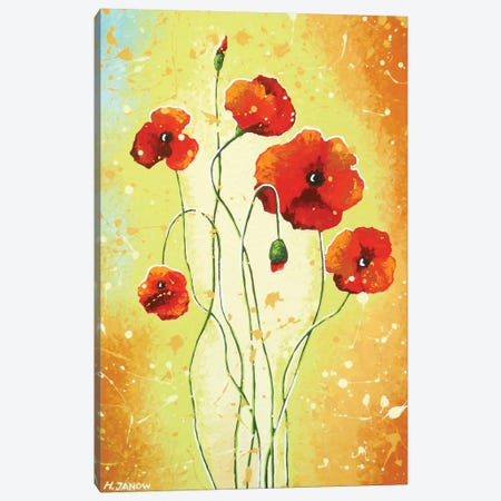 California Poppies Canvas Print #HJM5} by Helen Janow Miqueo Canvas Art