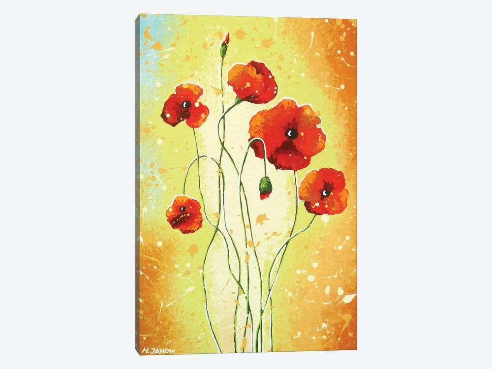 California Poppies by Helen Janow Miqueo 1-piece Canvas Art