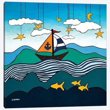 Dream Big 3-Piece Canvas #HJM61} by Helen Janow Miqueo Art Print