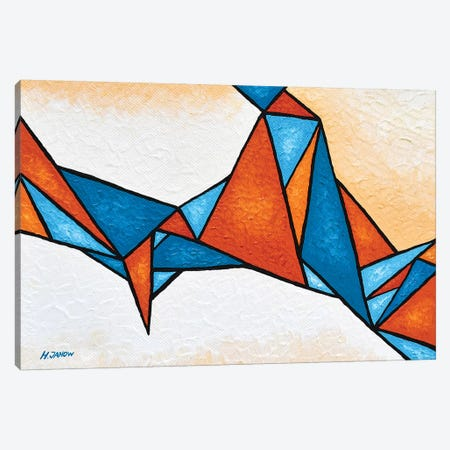 Geometric Nebula Canvas Print #HJM65} by Helen Janow Miqueo Canvas Artwork