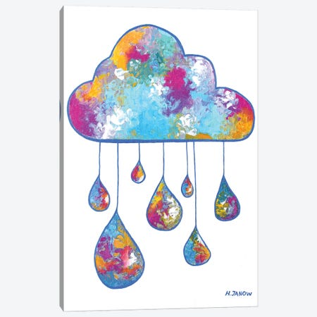 Little Rain Cloud Canvas Print #HJM67} by Helen Janow Miqueo Canvas Artwork
