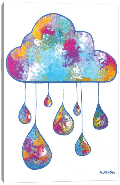 Little Rain Cloud Canvas Art Print