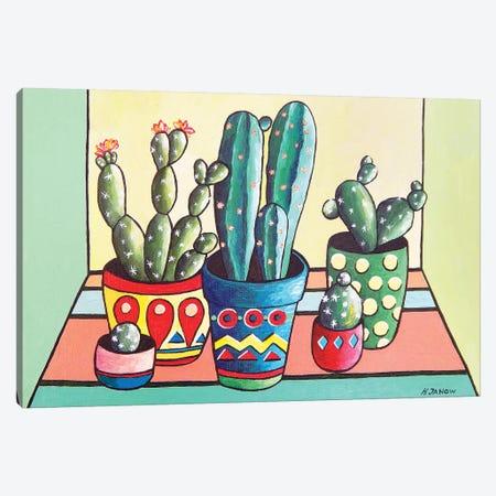 My Cactus Garden Canvas Print #HJM68} by Helen Janow Miqueo Art Print