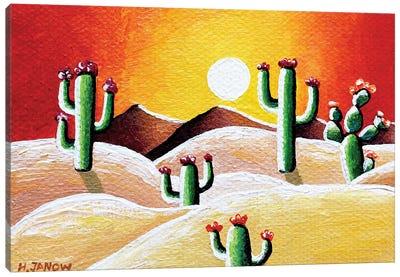 Sunset in Desert Canvas Art Print