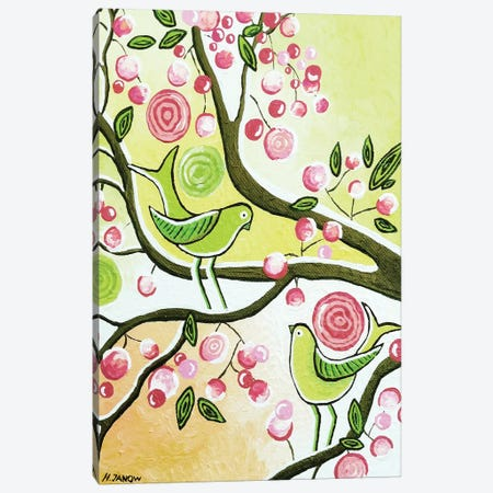 Cherry Garden Canvas Print #HJM6} by Helen Janow Miqueo Canvas Artwork