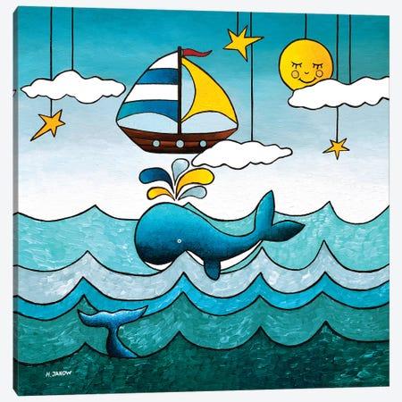 The Adventurer Canvas Print #HJM70} by Helen Janow Miqueo Canvas Wall Art