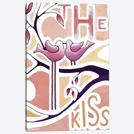 The Kiss Canvas Print #HJM71} by Helen Janow Miqueo Canvas Wall Art