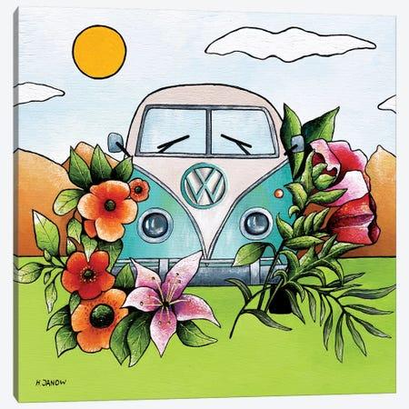 Love Bus Canvas Print #HJM75} by Helen Janow Miqueo Art Print
