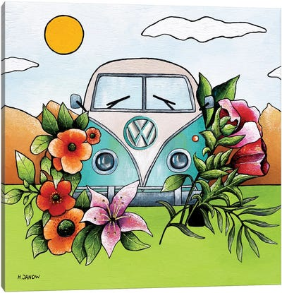 Love Bus Canvas Art Print