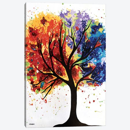 Mystical Tree Canvas Print #HJM76} by Helen Janow Miqueo Art Print