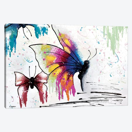 Fly Away Canvas Print #HJM78} by Helen Janow Miqueo Canvas Artwork
