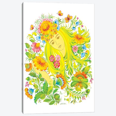 Her Name Is Spring Canvas Print #HKG38} by Halyna Kulaga Art Print