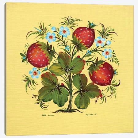 Strawberries Canvas Print #HKG6} by Halyna Kulaga Canvas Art Print