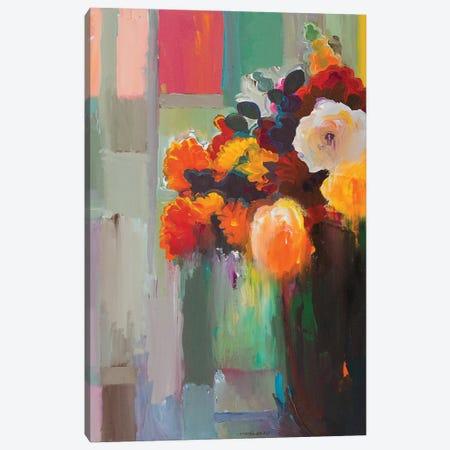 Asymmetrical Bouquet Canvas Print #HKH1} by Hooshang Khorasani Art Print