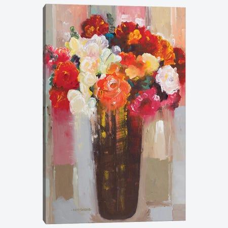 Rose Romance Canvas Print #HKH78} by Hooshang Khorasani Canvas Art