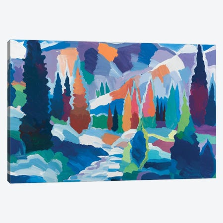 The Creek among the Colors Canvas Print #HKH91} by Hooshang Khorasani Canvas Art