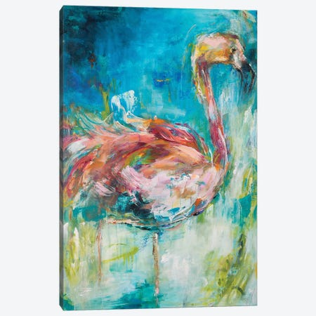 Pretty In Pink I Canvas Print #HKO1} by Hilma Koelman Canvas Wall Art