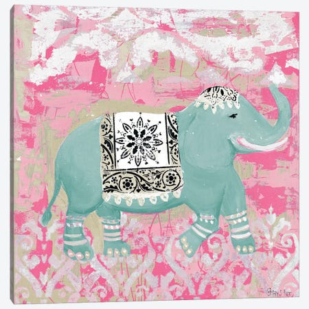 Pink Bazaar II Canvas Print #HKR10} by Hakimipour-Ritter Canvas Wall Art