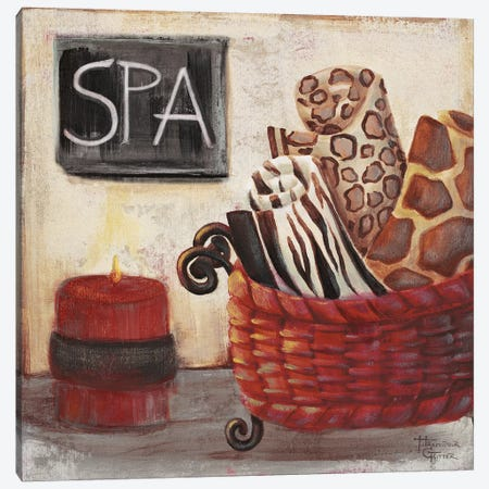 Red Jungle Spa I Canvas Print #HKR11} by Hakimipour-Ritter Canvas Art