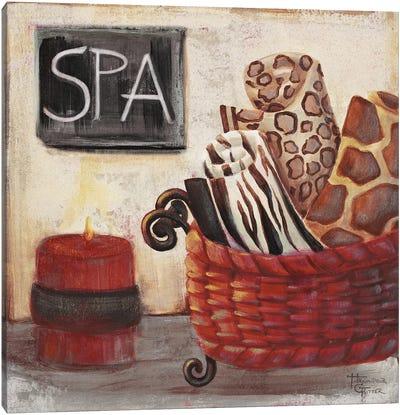Red Jungle Spa I Canvas Art Print