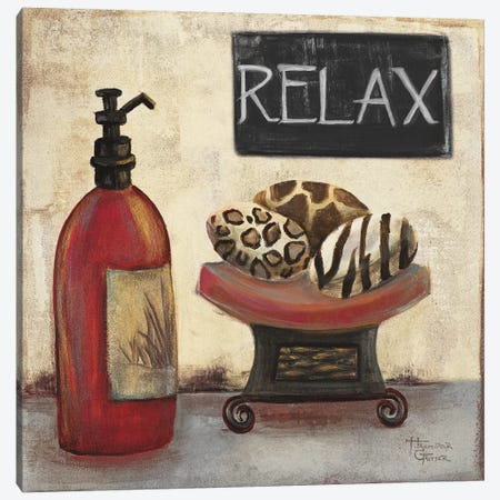 Red Jungle Spa II Canvas Print #HKR12} by Hakimipour-Ritter Canvas Wall Art