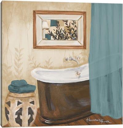 Blue Zen Bath II Canvas Art Print
