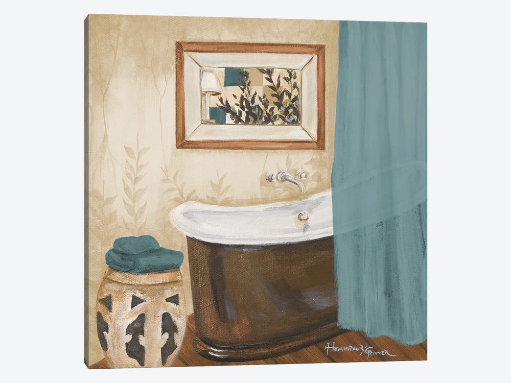 Blue Zen Bath II by Hakimipour-Ritter 1-piece Canvas Wall Art