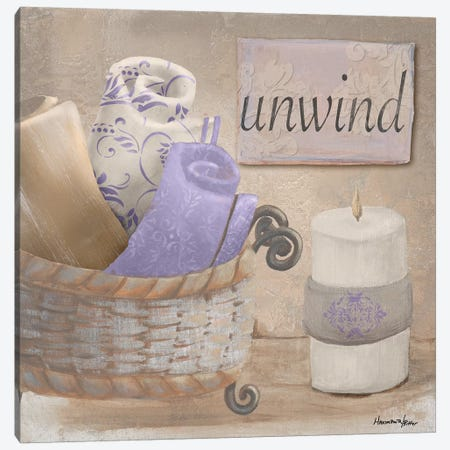 Lavender Bath I Canvas Print #HKR4} by Hakimipour-Ritter Art Print