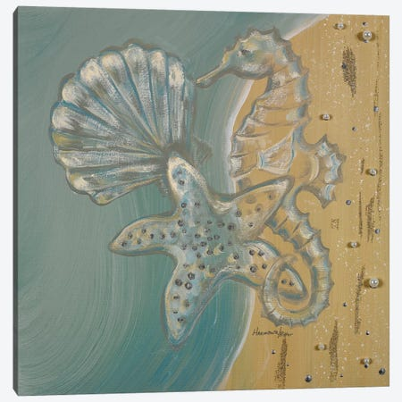 Pearl Beach II Canvas Print #HKR8} by Hakimipour-Ritter Canvas Artwork