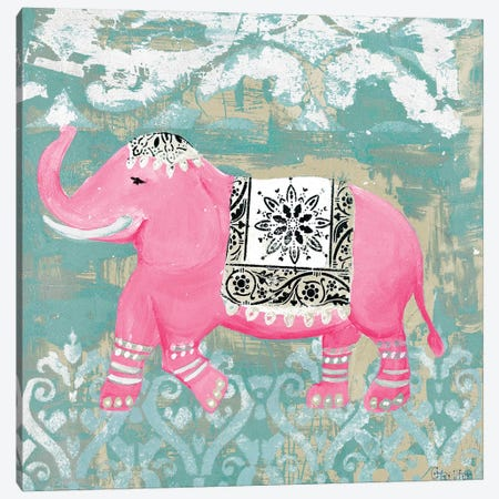 Pink Bazaar I Canvas Print #HKR9} by Hakimipour-Ritter Canvas Wall Art