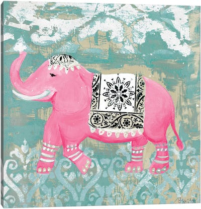 Pink Bazaar I Canvas Art Print